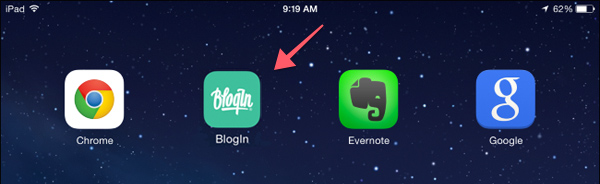 How to add BlogIn to the home screen of your smartphone or tablet